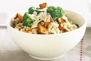 Oriz dhe brokoli në furrë