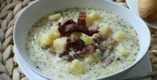 Supë me patate e proshutë